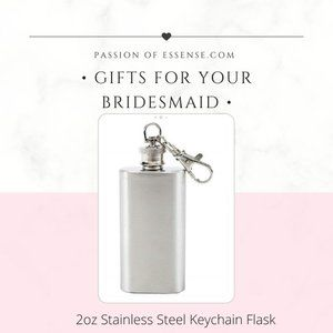 HP Bridesmaid Gifts Stainless Steel Keychain Flask